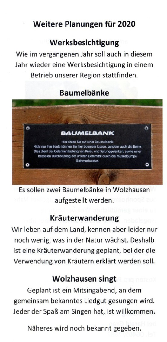 Dorfverein Wolzhausen Home